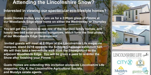 Join us for  a 2pm Pimms @ Woodlands Edge on Lincolnshire Show day