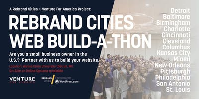 Rebrand Cities + Venture For America: Small Business Website Build-a-Thon