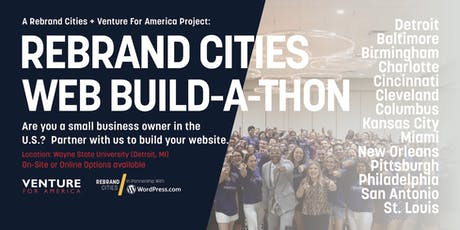 Rebrand Cities + Venture For America: Small Business Website Build-a-Thon tickets