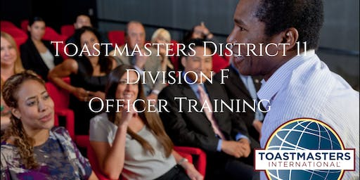 Toastmasters D11 Division F Officer Training Round 2