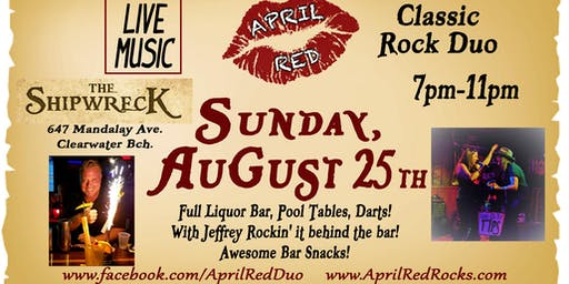 April Red is Back to ROCK The Shipwreck on Clearwater Beach!