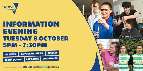 Yeovil College Information Evening - October 2019 tickets