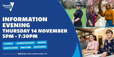 Yeovil College Information Evening - November 2019 tickets