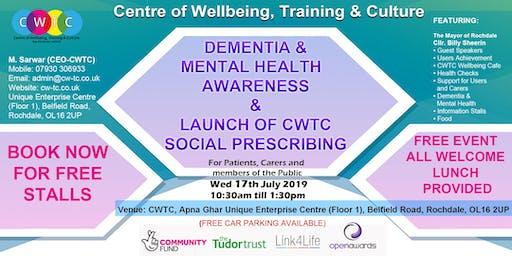 Dementia & Mental Health Awareness & Launch of CWTC Social Prescribing