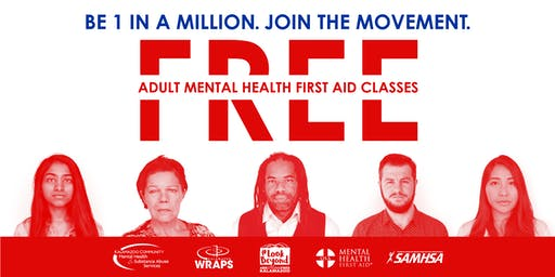ADULT Mental Health First Aid: Sept. 9 at Gryphon Place