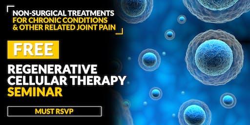 FREE Regenerative Cellular Therapy Seminar - Pleasant Grove, UT 6/20