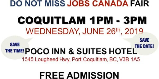 Free: Coquitlam Job Fair - June 26th, 2019