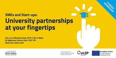 SMEs and Start-ups: University partnerships at your fingertips tickets