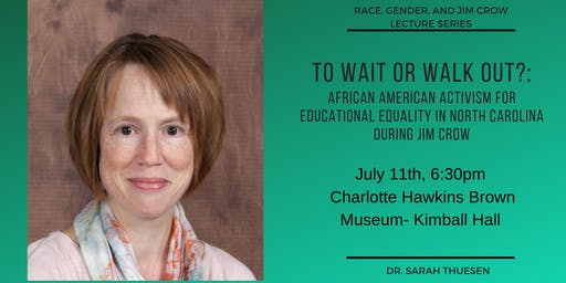 Race, Gender, and Jim Crow Lecture Series- Dr. Thuesen