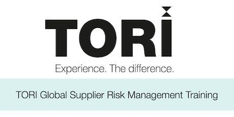 TORI Global Supplier Risk Management Training tickets