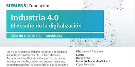 Industrias 4.0  - El desafió de la digitalización entradas