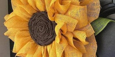 Sunflower Wreath Making Glendoick