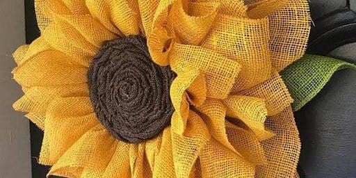 Sunflower Wreath Making Glendoick CANCELLED DUE TO NUMBERS