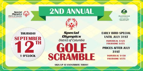 2nd Annual Special Olympics District of Columbia Golf Scramble tickets