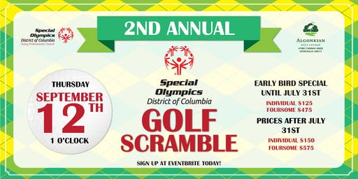 2nd Annual Special Olympics District of Columbia Golf Scramble Presented by Venable LLC