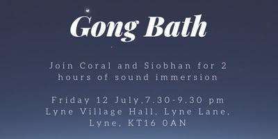 Gong Bath with Coral and Siobhan
