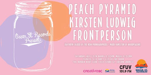 Oscar St. Records presents: Peach Pyramid, Kirsten Ludwig and Frontperson