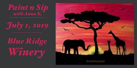 Paint n Sip- Serengeti Sunset tickets