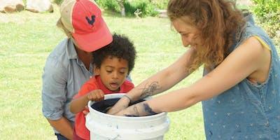 Family Indigo Dyeing at Browder's Farm
