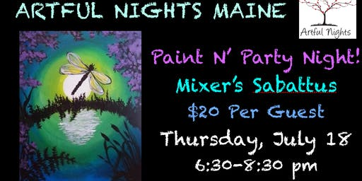 Paint N' Party Night at Mixer's  Nightclub & Lounge