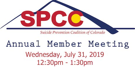 Suicide Prevention Coalition of Colorado Annual Member Meeting  tickets