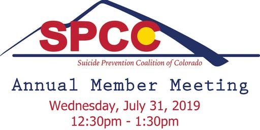 Suicide Prevention Coalition of Colorado Annual Member Meeting