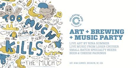 Art + Music + Brewing @ Astoria Bier & Cheese tickets