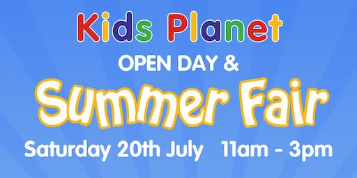 Kids Planet Great Sankey Summer Fair & Open Day