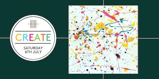 CREATE: Colour splash workshop 13:30pm - 14:30pm (age 18+)