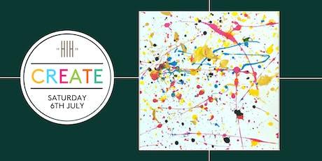 CREATE: Colour splash workshop 15:30 - 16:30 (age 6-18) tickets