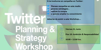 Twitter Workshop (Solo para colaboradores de nuestra red  Dentsu Aegis Network)