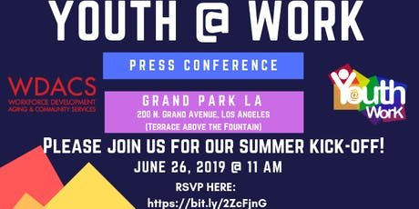 2019 Youth@Work Press Conference tickets