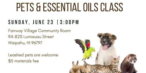 Pets & Essential Oils Class
