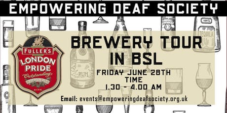 Brewery Tour in BSL tickets