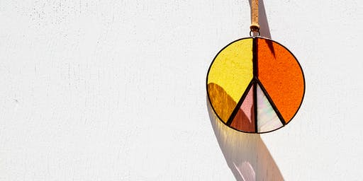 Good Vibes & Peace Signs Stained Glass Sun Catcher Workshop @ THE WATERLINE SB