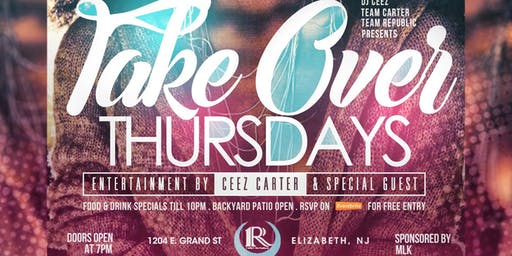 TakeOver Thursdays @ First Republic Lounge