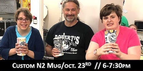 InsideOut Studio/ Oct Art Class/ Personalized N2 Mug / $40.00 tickets