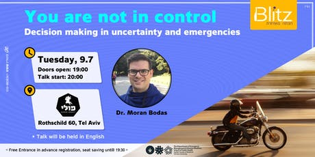 You are not in control | Dr. Moran Bodas  tickets