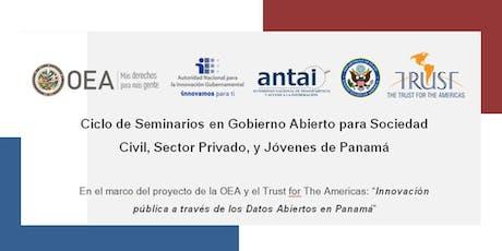 Panamá, SEMINARIO 1: Inducción al Gobierno Abierto entradas