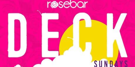 [SUN 6/16] #ROSBARDECKSUNDAYS DAY PARTY at ROSEBAR DC   OPEN BAR AVION TEQUILA 6-7 tickets