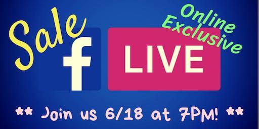 Facebook Live SALE!!