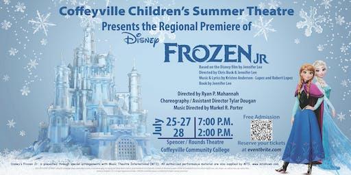 Coffeyville Children's Summer Theatre Presents FROZEN JR!
