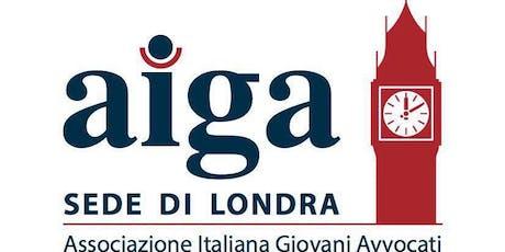 Legal Drinks - AIGA Londra tickets