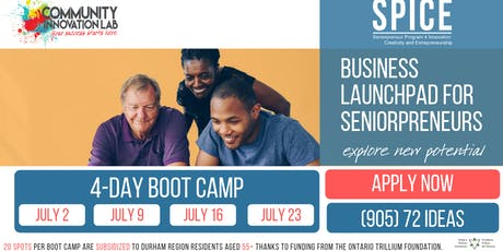 FREE 4-Day Entrepreneurship Boot Camp (55+) tickets