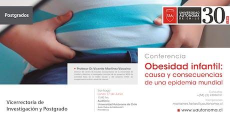 Conferencia Obesidad Infantil: causa y consecuencias de una epidemia mundial tickets