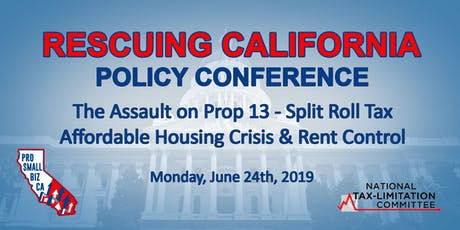 RESCUING CALIFORNIA POLICY CONFERENCE tickets