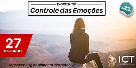 Workshop - Controle das Emoções ingressos