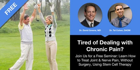 How to Treat Joint & Nerve Pain, Without Surgery, Using Stem Cell Therapy tickets