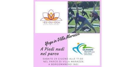 Yoga in Villa Marazza biglietti