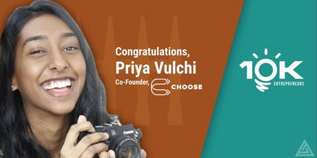 Meet Priya Vulchi, Nassau Street Ventures's 10K Entrepreneurs Award Winner tickets